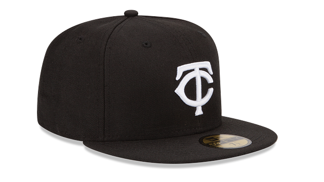 MINNESOTA TWINS BLACK & WHITE 59FIFTY FITTED