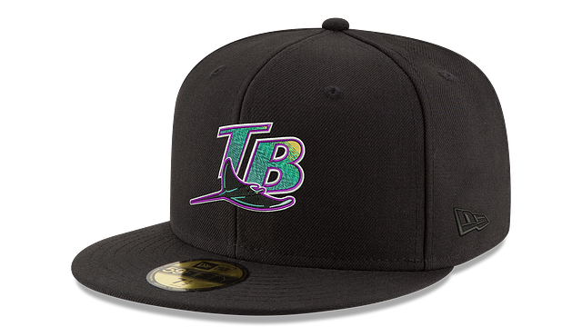 TAMPA BAY RAYS COOP BLACK 59FIFTY FITTED