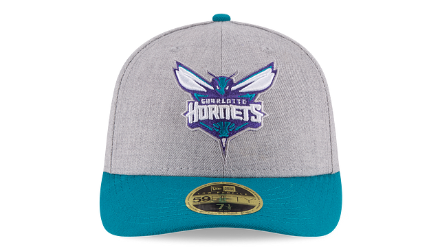 CHARLOTTE HORNETS HEATHER LOW PROFILE 59FIFTY FITTED