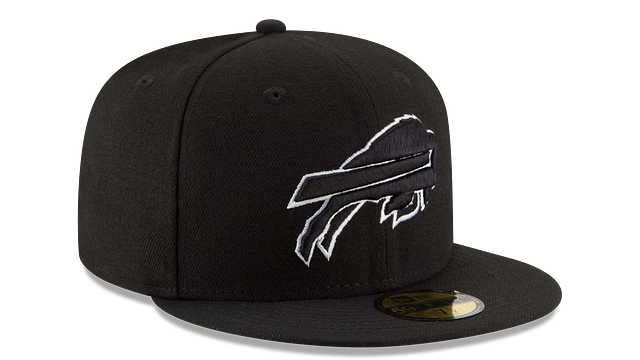 BUFFALO BILLS BLACK & WHITE 59FIFTY FITTED