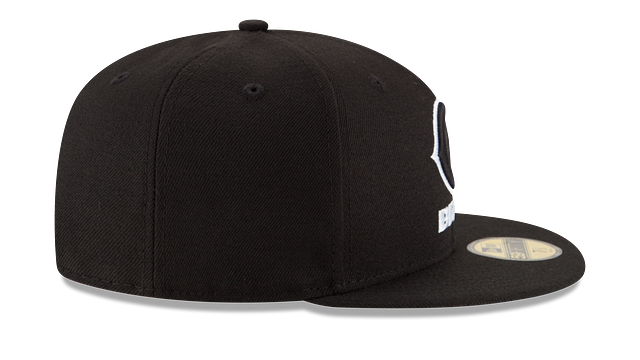 CHICAGO BEARS BLACK & WHITE 59FIFTY FITTED