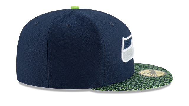 SEATTLE SEAHAWKS OFFICIAL SIDELINE 59FIFTY FITTED