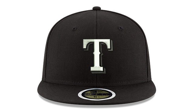 KIDS TEXAS RANGERS BLACK & WHITE 59FIFTY FITTED