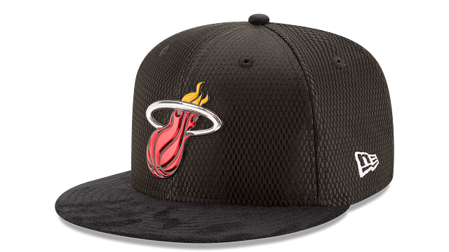 MIAMI HEAT ON COURT 9FIFTY SNAPBACK