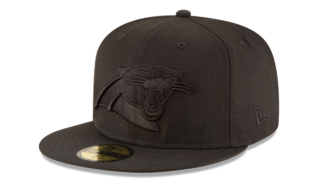 CAROLINA PANTHERS BLACK ON BLACK 59FIFTY FITTED