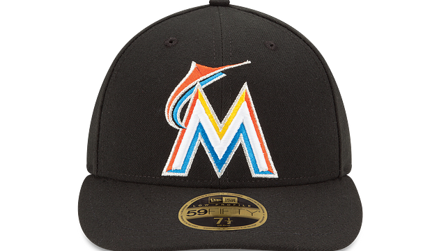 MIAMI MARLINS AUTHENTIC COLLECTION LOW PROFILE 59FIFTY FITTED