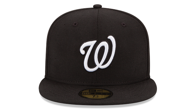 WASHINGTON NATIONALS BLACK & WHITE 59FIFTY FITTED