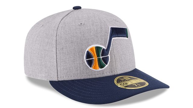 UTAH JAZZ HEATHER LOW PROFILE 59FIFTY FITTED