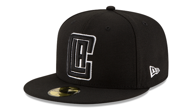 LOS ANGELES CLIPPERS BLACK & WHITE 59FIFTY FITTED