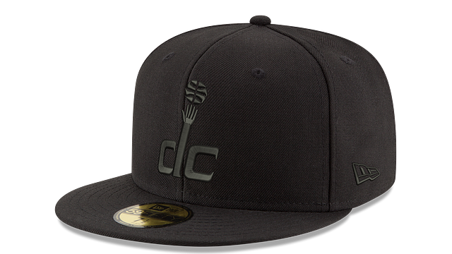 WASHINGTON WIZARDS BLACK ON BLACK 59FIFTY FITTED