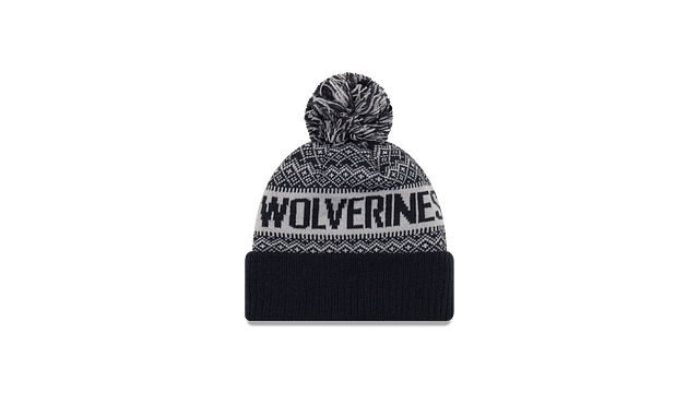 MICHIGAN WOLVERINES WINTRY POM KNIT Rear view