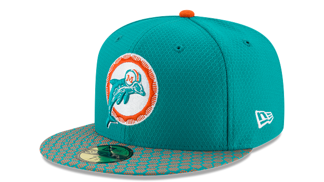 MIAMI DOLPHINS OFFICIAL SIDELINE 59FIFTY FITTED