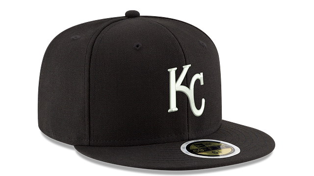 KIDS KANSAS CITY ROYALS BLACK & WHITE 59FIFTY FITTED
