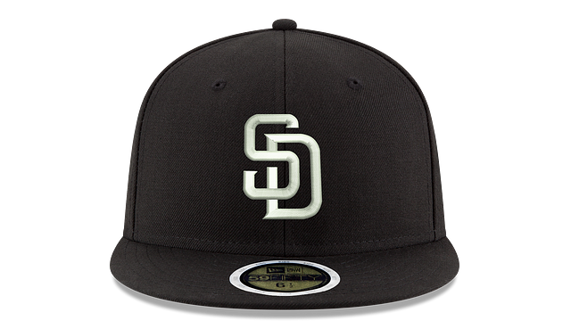 KIDS SAN DIEGO PADRES BLACK & WHITE 59FIFTY FITTED