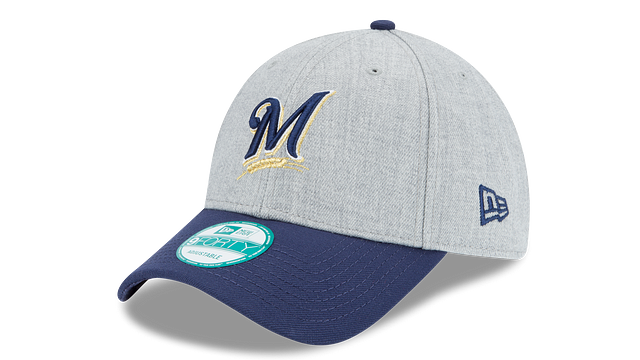 MILWAUKEE BREWERS HEATHER 9FORTY ADJUSTABLE