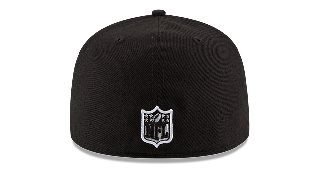 DENVER BRONCOS BLACK & WHITE 59FIFTY FITTED