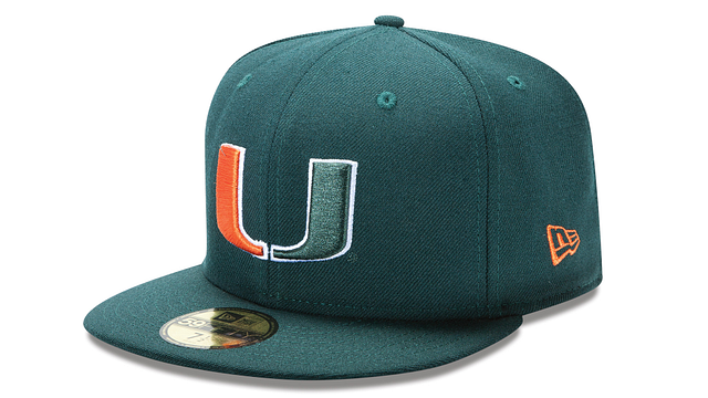 MIAMI HURRICANES BASIC 59FIFTY FITTED