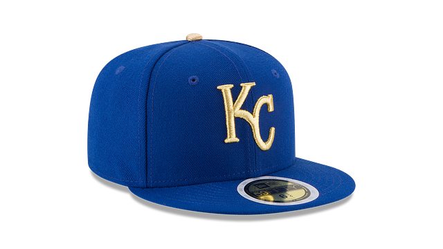 KIDS KANSAS CITY ROYALS AUTHENTIC COLLECTION 59FIFTY FITTED 3 quarter left view