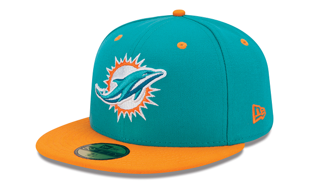 MIAMI DOLPHINS 2TONE 59FIFTY FITTED