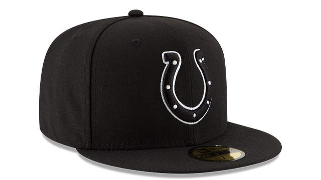 INDIANAPOLIS COLTS BLACK & WHITE 59FIFTY FITTED