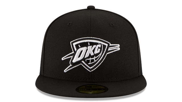 OKLAHOMA CITY THUNDER BLACK & WHITE 59FIFTY FITTED