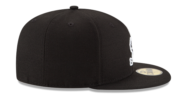 CLEVELAND BROWNS BLACK & WHITE 59FIFTY FITTED