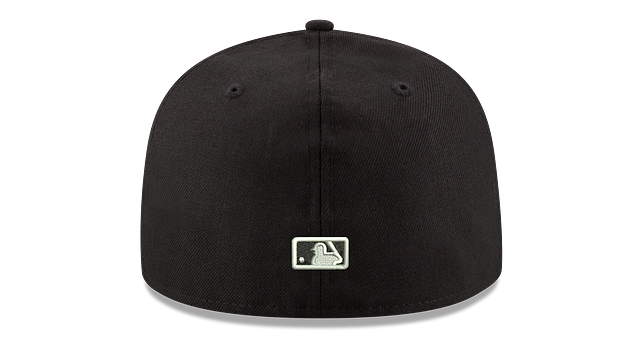 NEW YORK METS BLACK & WHITE 59FIFTY FITTED