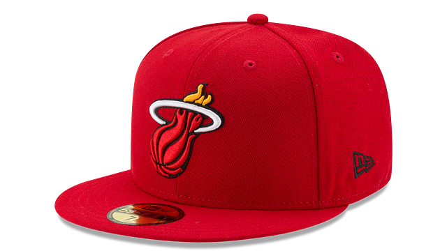 MIAMI HEAT TEAM COLOR 59FIFTY FITTED