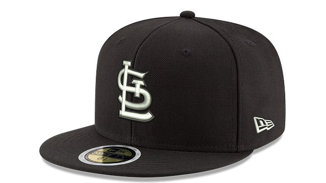 KIDS ST. LOUIS CARDINALS BLACK & WHITE 59FIFTY FITTED