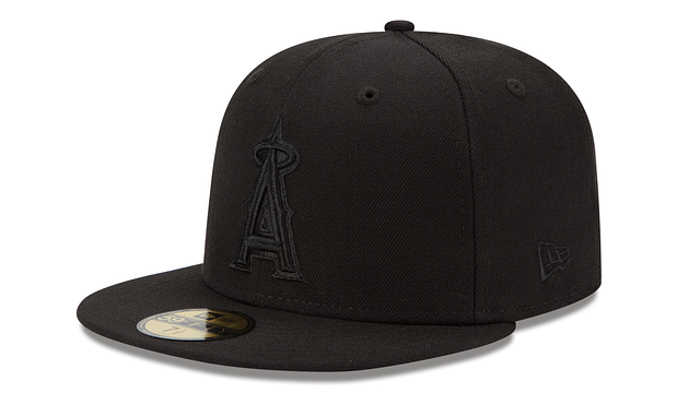 LOS ANGELES ANGELS BLACK ON BLACK 59FIFTY FITTED
