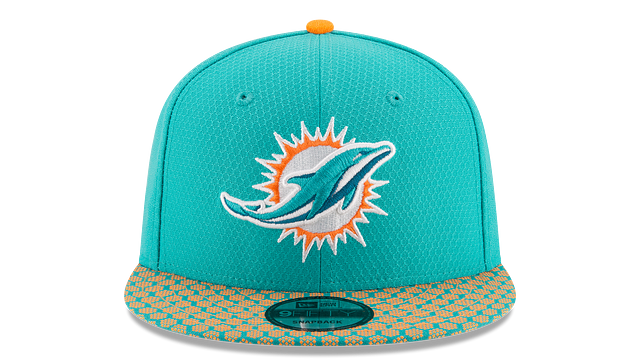 MIAMI DOLPHINS OFFICIAL SIDELINE 9FIFTY SNAPBACK