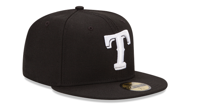 TEXAS RANGERS BLACK & WHITE 59FIFTY FITTED