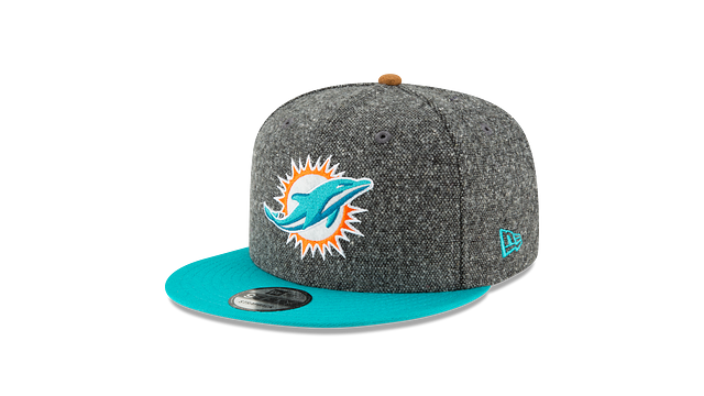 MIAMI DOLPHINS SUEDE ON TWEED 9FIFTY STRAPBACK