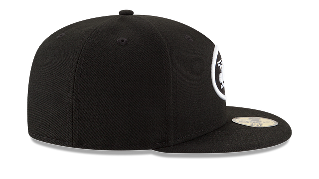 NEW YORK JETS BLACK & WHITE 59FIFTY FITTED