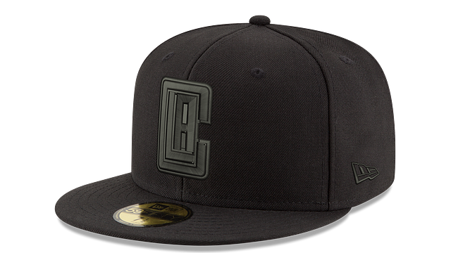 LOS ANGELES CLIPPERS BLACK ON BLACK 59FIFTY FITTED
