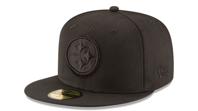 PITTSBURGH STEELERS BLACK ON BLACK 59FIFTY FITTED