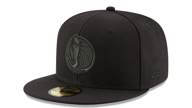 DALLAS MAVERICKS BLACK ON BLACK 59FIFTY FITTED