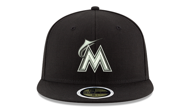 KIDS MIAMI MARLINS BLACK & WHITE 59FIFTY FITTED