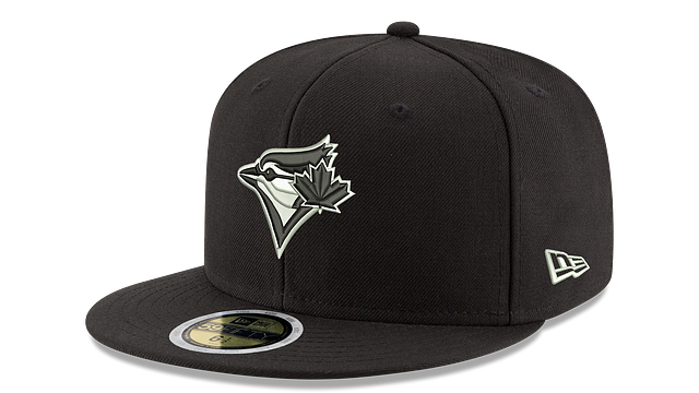 KIDS TORONTO BLUE JAYS BLACK & WHITE 59FIFTY FITTED