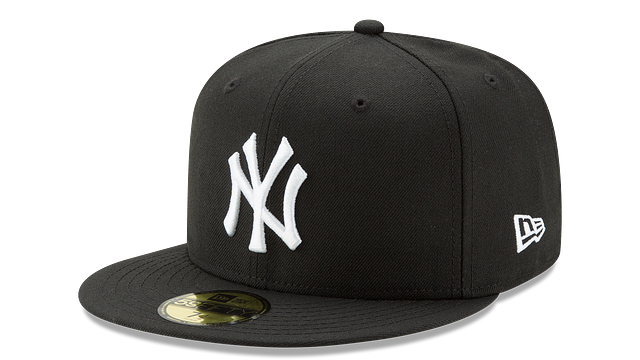 NEW YORK YANKEES BLACK & WHITE 59FIFTY FITTED