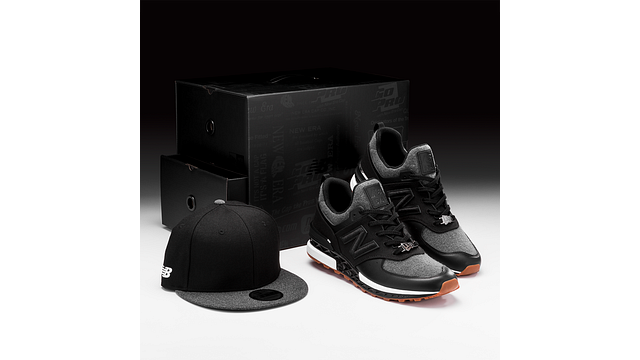 NEW ERA x NEW BALANCE 574S & 9FIFTY STRAPBACK 3 quarter right view