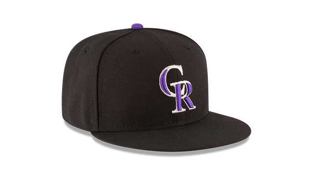KIDS COLORADO ROCKIES AUTHENTIC COLLECTION 59FIFTY FITTED 3 quarter right view