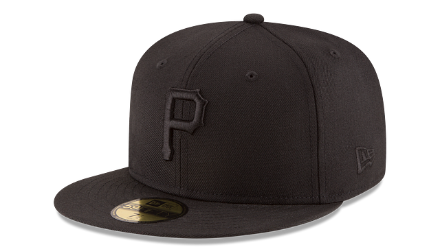 PITTSBURGH PIRATES BLACK ON BLACK 59FIFTY FITTED