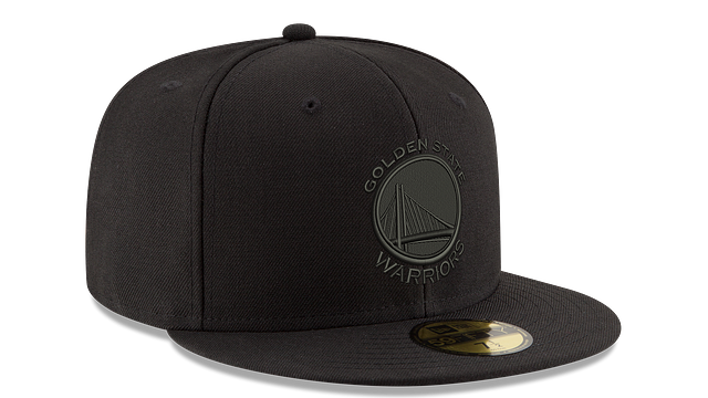 GOLDEN STATE WARRIORS BLACK ON BLACK 59FIFTY FITTED