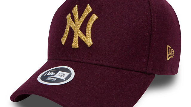 Womens New York Yankees Melton 9forty Adjustable | New York Yankees Baseball Caps | New Era Cap