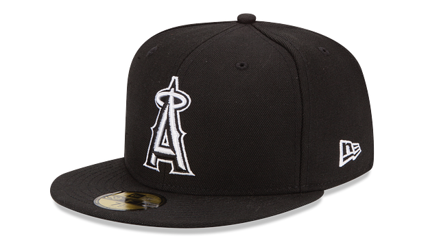 LOS ANGELES ANGELS BLACK & WHITE 59FIFTY FITTED