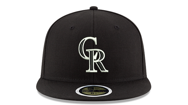 KIDS COLORADO ROCKIES BLACK & WHITE 59FIFTY FITTED