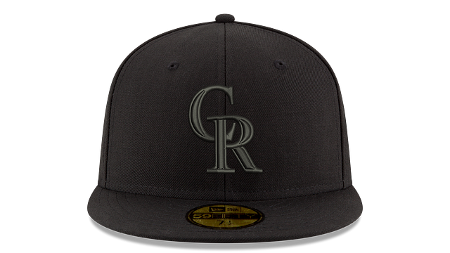 COLORADO ROCKIES MLB BLACK ON BLACK 59FIFTY FITTED