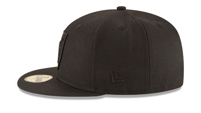 OAKLAND RAIDERS BLACK ON BLACK 59FIFTY FITTED
