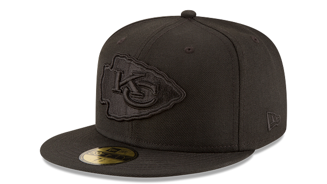 KANSAS CITY CHIEFS BLACK ON BLACK 59FIFTY FITTED